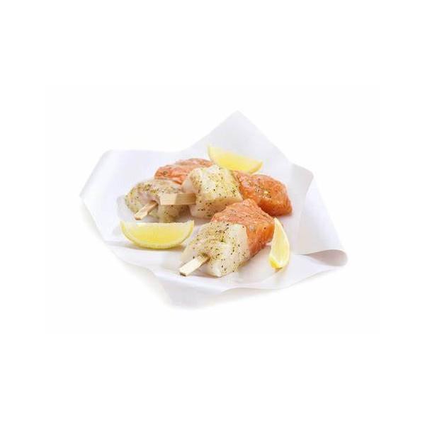 brochette cabillaud-saumon