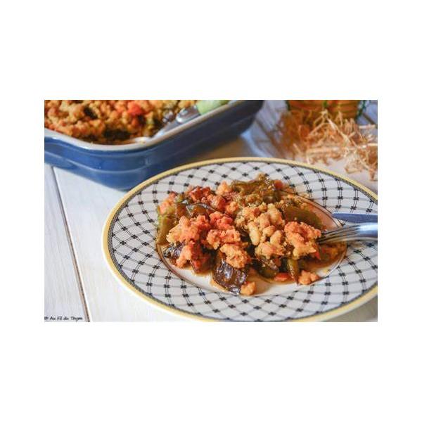 Crumble légumes/chorizo- lotte